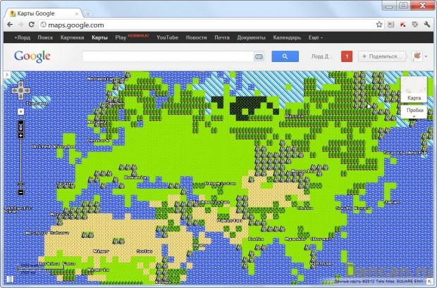 1 апреля Google maps
