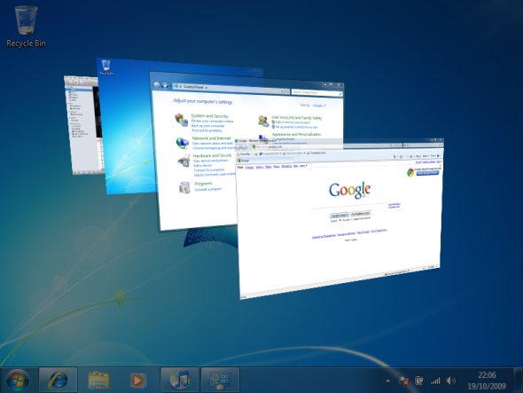Функции Aero в Windows XP