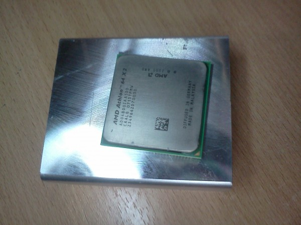 Процессор и радиатор к которому он прилип