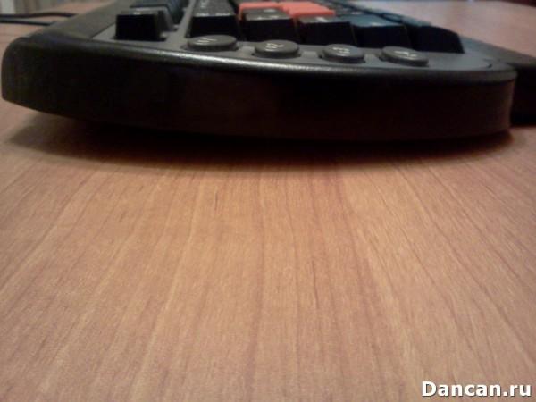 Наклон клавиатуры Ножки a4tech g800V с выдвинутыми ножками